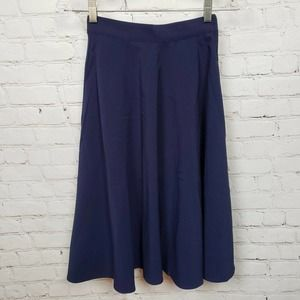 ModCloth Just This Sway A-Line Midi Skirt Blue NWT